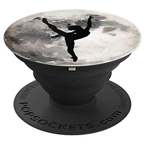 Fly Me To The Moon Ballet Dancer Girl Watercolor Art Pattern - PopSockets Grip and Stand for Phones and ()