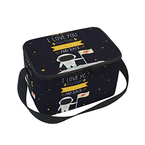 ALAZA I Love You to the Moon and Back Star Insulated Lunch Bag Box Cooler Bag by ALAZA