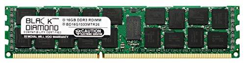 (16GB RAM Memory for Compaq ProLiant BL460c G7 Server Blade 240pin PC3-10600 DDR3 ECC Registered RDIMM 1333MHz Black Diamond Memory Module Upgrade)