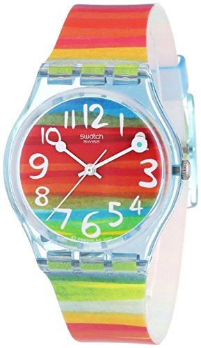 Swatch Women's GS124 Quartz Rainbow Dial Plastic Watch - Swatch Watches