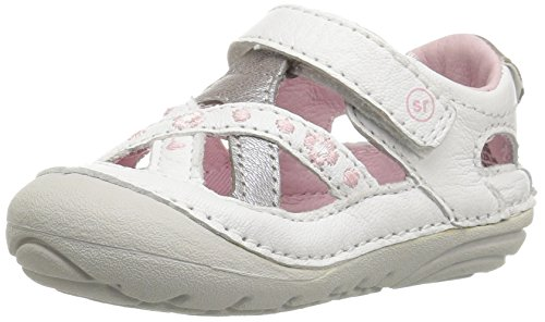 Stride Rite Soft Motion Kiki Fisherman Sandal, White, 3 M US Infant (Baby Shoes Stride Ride)