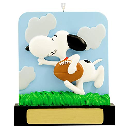 Hallmark DIY Personalized Christmas Ornament Peanuts Snoopy Football, Snoopy Football, Snoopy Football