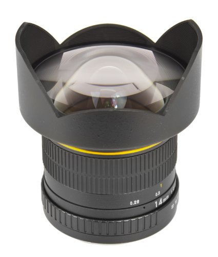 Bower SLY1428C Ultra Wide-Angle 14mm f/2.8 Fisheye Lens for Canon by Bower Camera