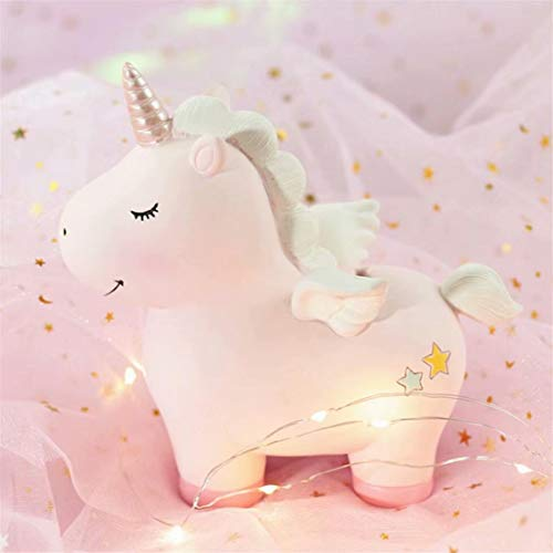 TMROW Baby Night Light Cute Unicorn Moon Night Light for Kids Baby Girls Toy Creative Home Decoration as a Birthday Christmas Valentine's Day Gift 11X15cm -