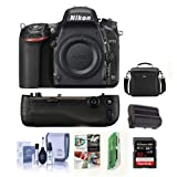 Nikon D750 FX-Format Digital SLR Body Only Camera – Bundle with Camera Bag, 32GB Class 10 SDHC Card, Nikon MB-D16 Multi Power Battery Pack, Spare Battery, Cleaning Kit, Card Reader, Software Package