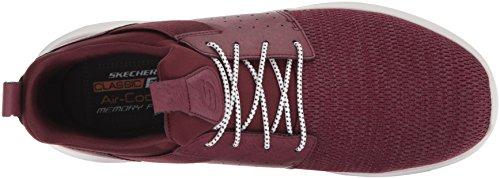Skechers Mens Classique En Forme-delson-camden Bordeaux Sneaker