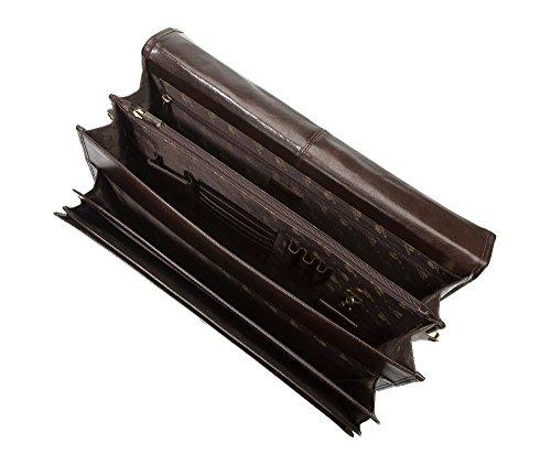 Wittchen Cartella, Nero, Dimensione: 30x42 cm - Materiale: Pelle di grano - 21-3-025-1