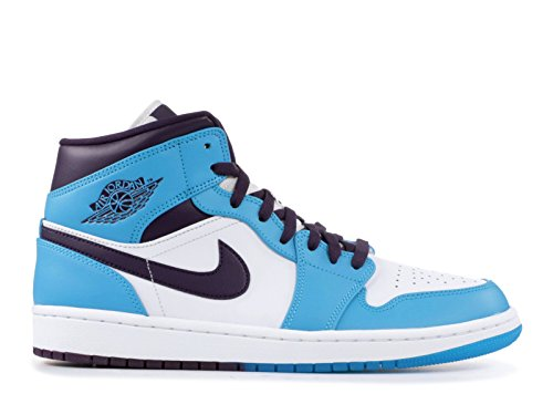 Nike Mens Air Jordan 1 Metà Pattino Blu Laguna / Grande Viola