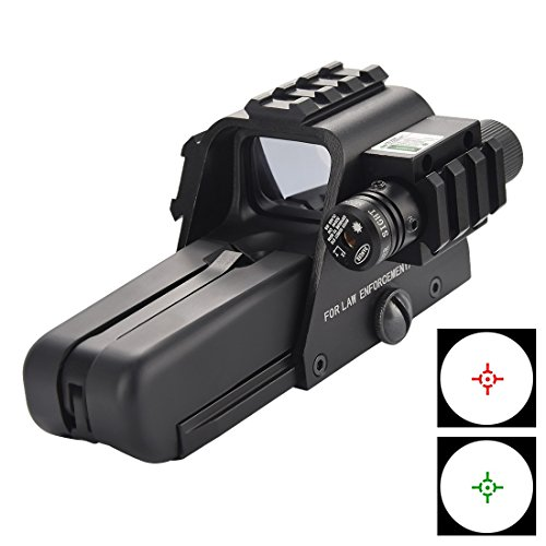 Fyland Reflex Sight, Tactical Reflex Holographic Red Green Dot Sight with 3pcs 20mm Side Rail by Fyland