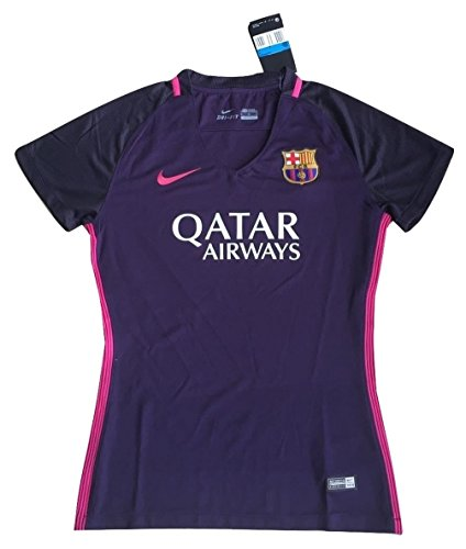 Barcelona Shirts Soccer - Women's FC Barcelona 2016-2017 Away Soccer Jersey Purple Dynasty (Women Medium)