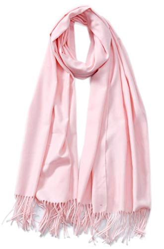 Cindy & Wendy Large Soft Cashmere Silky Pashmina Solid Shawl Wrap Scarf for Women