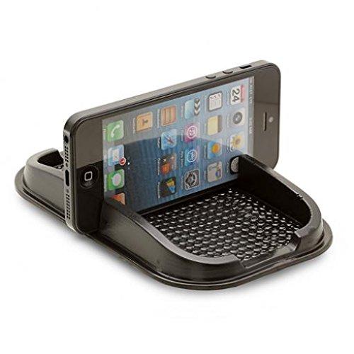 Car Non-Slip Dash-board Holder Stand Mount Sticky Mat Vehicle Desktop Phone Dock Black for Verizon Blackberry Bold 9930 - Verizon Blackberry Classic - Verizon Blackberry Priv - Verizon Blackberry - Desktop 9930