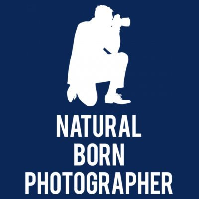 Sudadera con capucha de mujer Natural Born Photographer by Shirtcity Azul marino