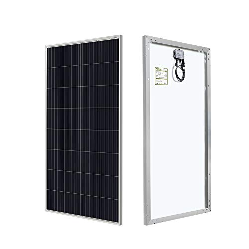 HQST 150W 12V Poly Solar Panel 150 Watt Off Grid PV Power RV Car Boat Home Cabin