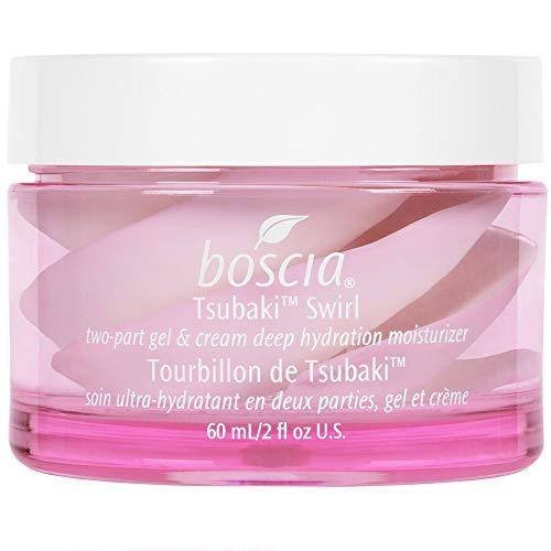 boscia Tsubaki Swirl - Natural Camellia Oil Cream and Gel Face Moisturizer for Combo to Dry Skin, 2 fl oz