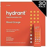 Hydrant Blood Orange Rapid Hydration Drink Mix, Electrolyte Powder, Dehydration Recovery Drink Blend w. Zinc,