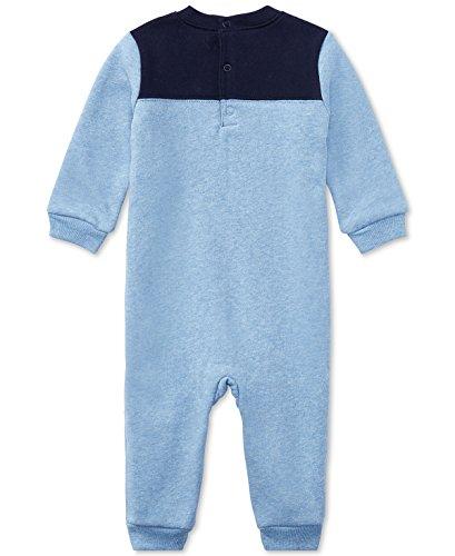 Ralph Lauren Baby Boys L/S Cotton-Blend-Fleece Coverall