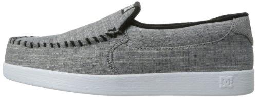 DC Men's Villain TX Skate Shoe,White/White/Black,