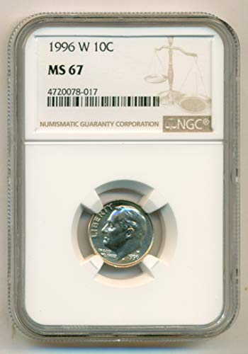 1996 W Roosevelt Dime MS67 NGC (Dimes Ms67)