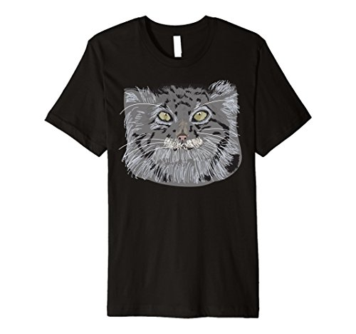 Tibetan Pallas's Cat Face Graphic T-Shirt ()
