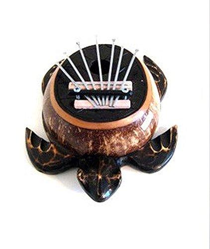 Turtle Kalimba Finger Thumb Piano Mbira Karimba 7 Keys Wood Percussion Instrument - JIVE BRAND by Jive