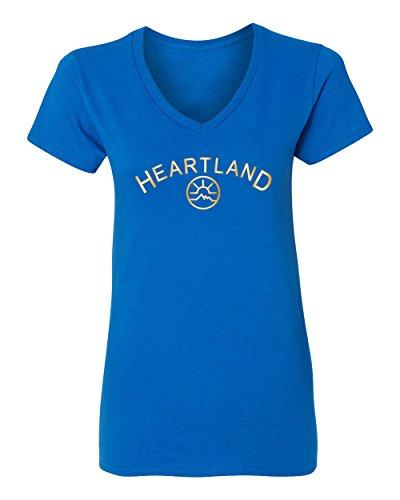 Price comparison product image RIVEBELLA HL Ranch,  Heartland,  Ranch,  HO - Heartland Womens Vneck T-Shirt