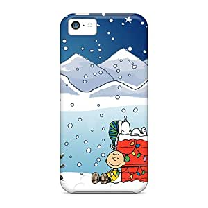 High Quality Mobile Cover For Iphone 5c With Customized High-definition Snoopy Xmas Pictures MansourMurray