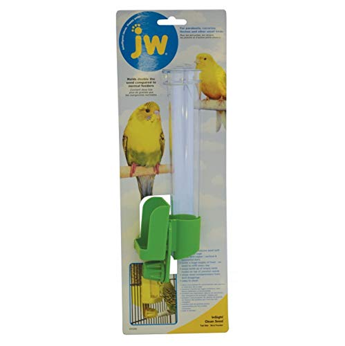 (JW Pet Company Clean Water Silo Waterer Bird Accessory, Regular (Colors Vary))