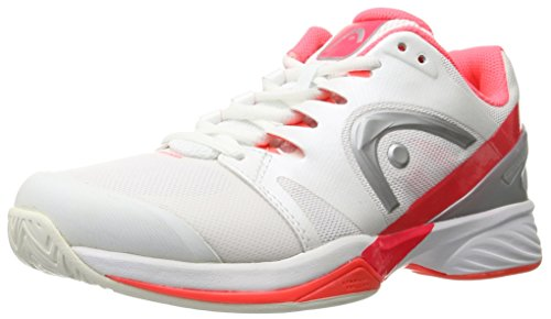 Price comparison product image HEAD Women's Nitro PRO Tennis Shoe,  White / Neon Coral,  7.5 M US
