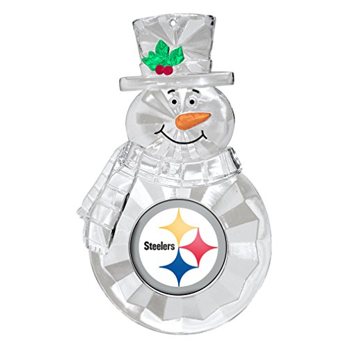 NFL Pittsburgh Steelers Traditional Snowman Ornament (Decorations Christmas Steelers)