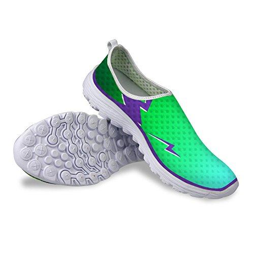 For U Design Kule Womens Pustende Mesh Atletisk Sneaker Joggesko Grønne 1  ...