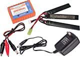 Evike Matrix High Performance 11.1V Butterfly Type Airsoft/RC LiPo Battery (Configuration: 1300mAh / 15C / Small Tamiya/BMS Smart Charger Package)