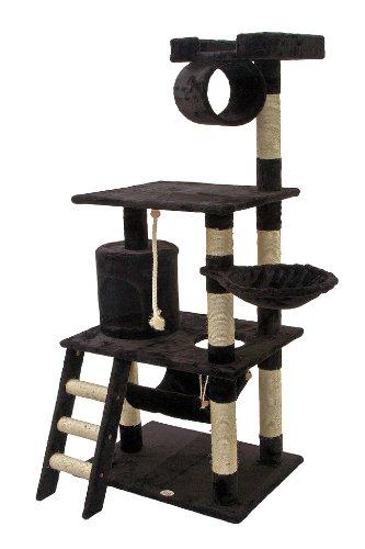 Go Pet Club 62-Inch Cat Tree, Black, My Pet Supplies