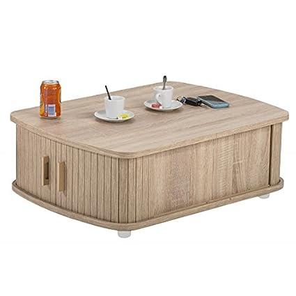 SIMMOB Tavolino Rettangolare 80 Cm Rovere Naturale - Colori - Rovere ...