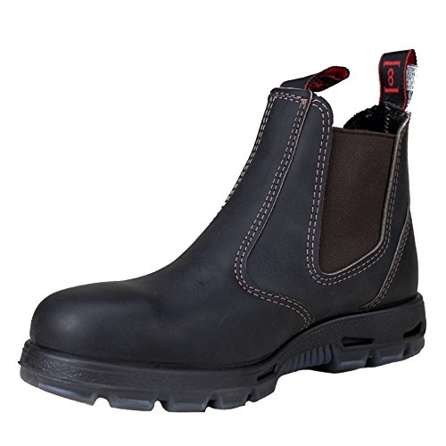 RedbacK Mens Safety Bobcat USBOK Dark Brown Elastic Sided Steel Toe Leather Work Boot