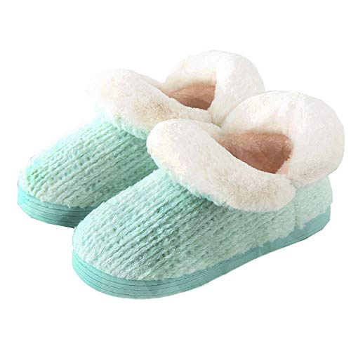 Cotton Women's Ankle Plush Boots Slipper Indoor Warm Booties House Cozy Knit tqfZrUnq