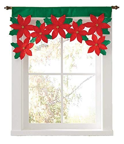 Ornement Panneau Rideau Drapé De Noël Pétale Décoratif Fuxitoggo Fenêtre x0IAAq