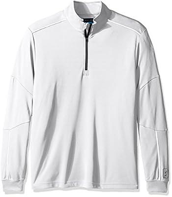 PGA TOUR Men's Elements Long Sleeve Water Repellent 1/4 Zip Mock Sweater