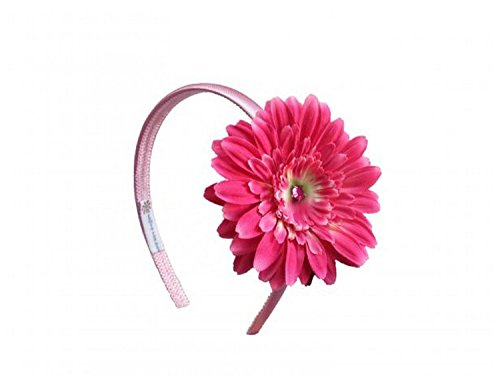 Candy Daisy Hard - Candy Pink Hard Headband with Candy Pink Daisy, One Size