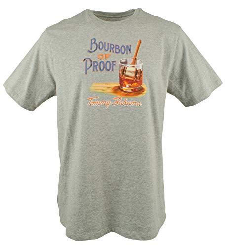 Tommy Bahama Men's Bourbon of Proof Cotton Short Sleeve T Shirt (Large, Grey Heather)
