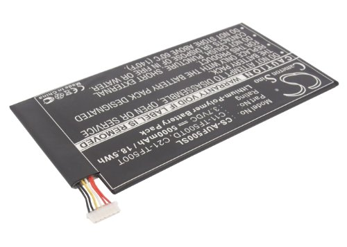 VINTRONS Rechargeable Battery 5000mAh For Asus Transformer Pad TF500, Transformer Pad TF500D, TF500T
