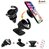 Car Mount for Pop Sockets, LoyaForba 360 Rotation Car Mount Air Vent Phone Holder and Dashboard Desk Wall Bracket Perfect for GPS Navigation and Pickup Truck Fits iPhone X/8, Samsung Galaxy Note 8/S9+