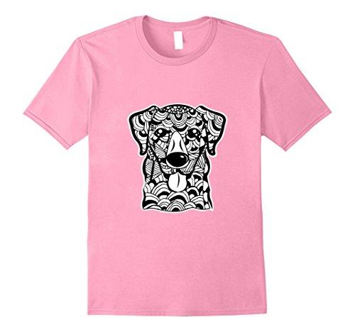 Mens Labrador Retriever Dog Face Graphic Art T-Shirt XL Pink