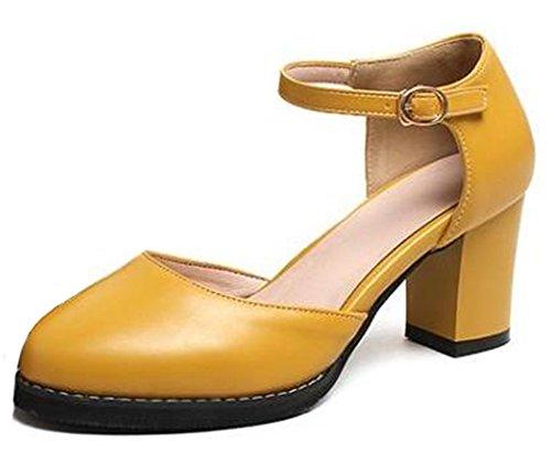 Sandali Con Tacco Medio Alla Caviglia Con Punta Arrotondata E Cinturino Alla Caviglia Con Fibbia Alla Caviglia