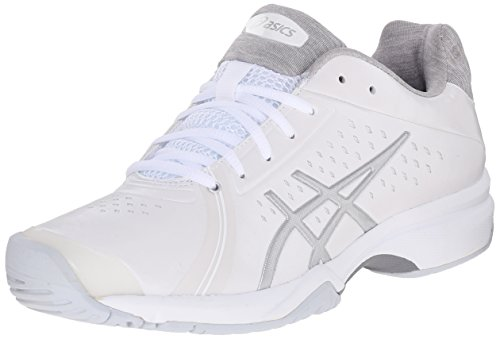 ASICS Women's GEL-Court Bella Tennis Shoe, White/Silver/White, 9 M US