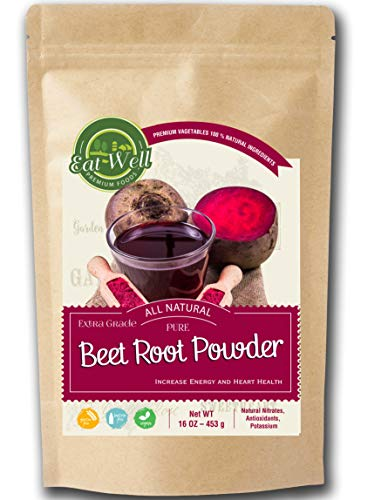 Beet Root Powder | 16oz (1 lb)- 453 g - Reseable Bag | 100% Pure Beetroot Juice Powder Superfood (Non-GMO) | No Additives - Fillers or Sweetners – for Smoothie Beverage Blend