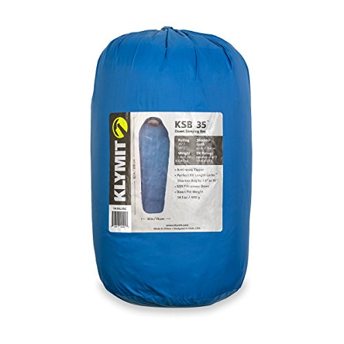 KLYMIT KSB 35 Degree Down Sleeping Bag (New for 2018), Blue by Klymit (Image #3)