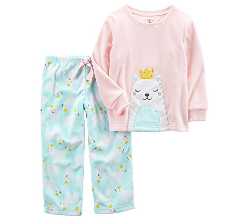 Carters Baby Girl 2 Piece (Carter's Baby Girls' 12M-14 2 Piece Polar Princess Fleece Pajama Set 12 Months)