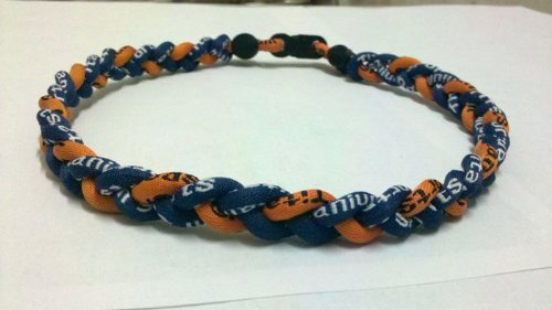45,7 cm Navy Blau Orange Titan Sport Tornado Baseball Halskette