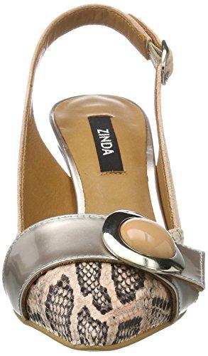Zinda 2721 - Tira de tobillo Mujer Beige (rosé)
